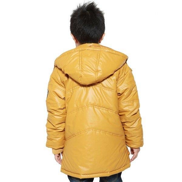 f4137ab95f6 XIAOYOUYU Size 130 165 Warm Children Windproof Hooded Collar Boys ...