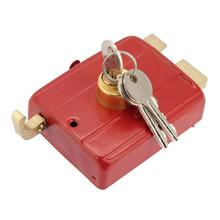 Heavy Duty Deadbolt Rim Lock Security door Lock Dead Bolt Lock with Keys for Front Door Red Nightlatch Suitable For Gate Single автокресло siger бустер изофикс синий 22 36 кг