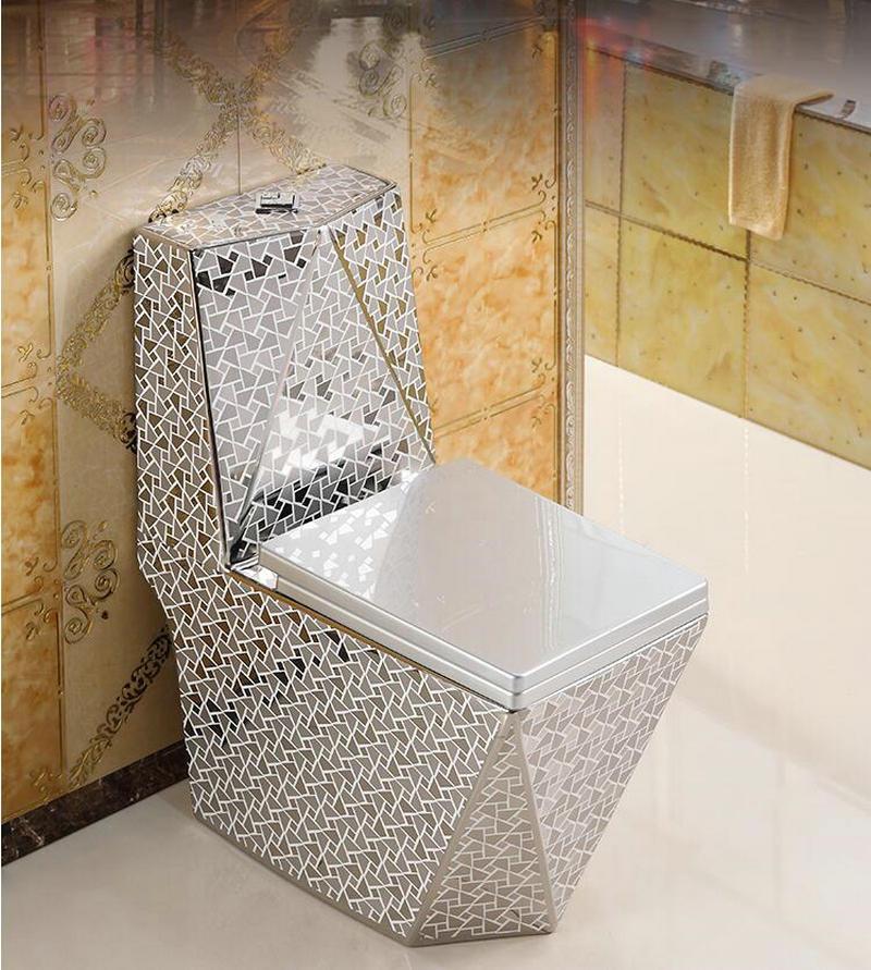 2 Kolory Grawitacja Toaleta Spłukiwana Syfon Jet Fluishing S Trap Podłoga Montowana Luksusowa Willa łazienka Sedes Spłuczka Toaletowa