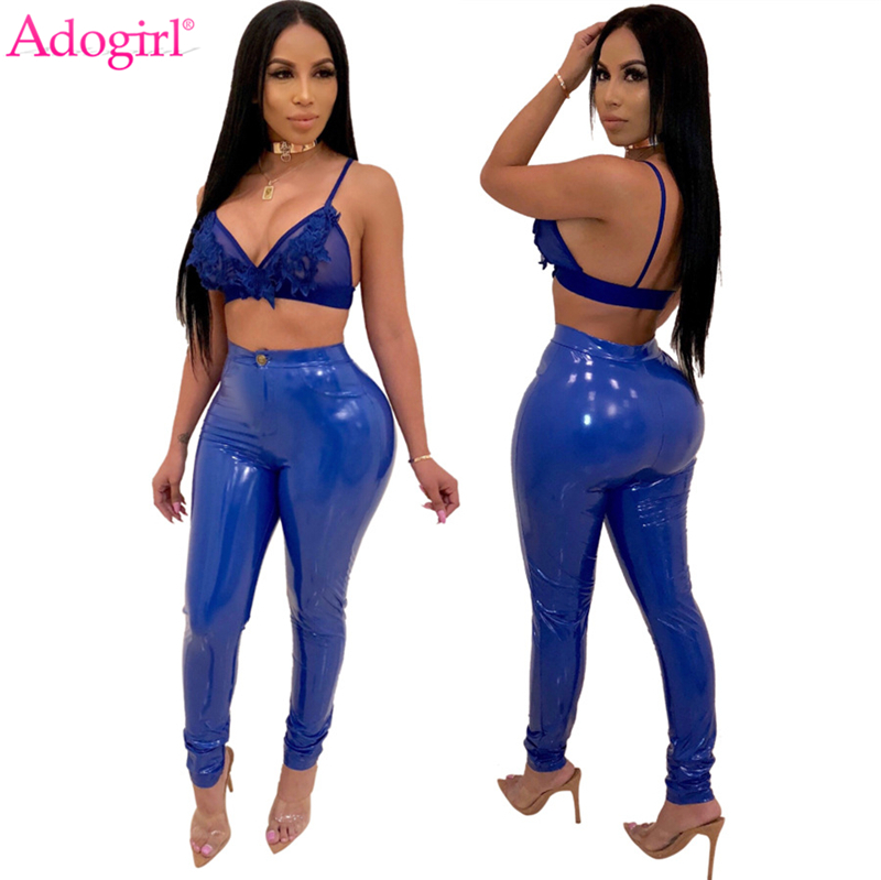 Adogirl Plus Size S-3XL Solid PU Leather Pants Warm Thick Highly Stretchy Fleece PU Pencil Pants Women Fashion Trousers Clubwear