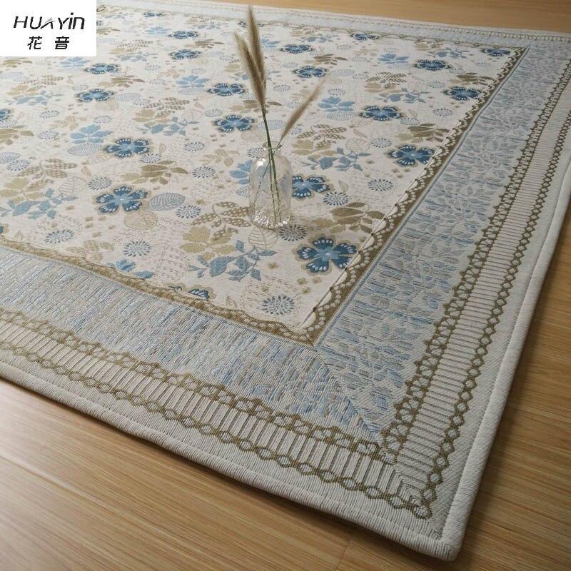 Jacquard carpet salon pastorale canapé lit de chevet couverture accueil rétro Américain style