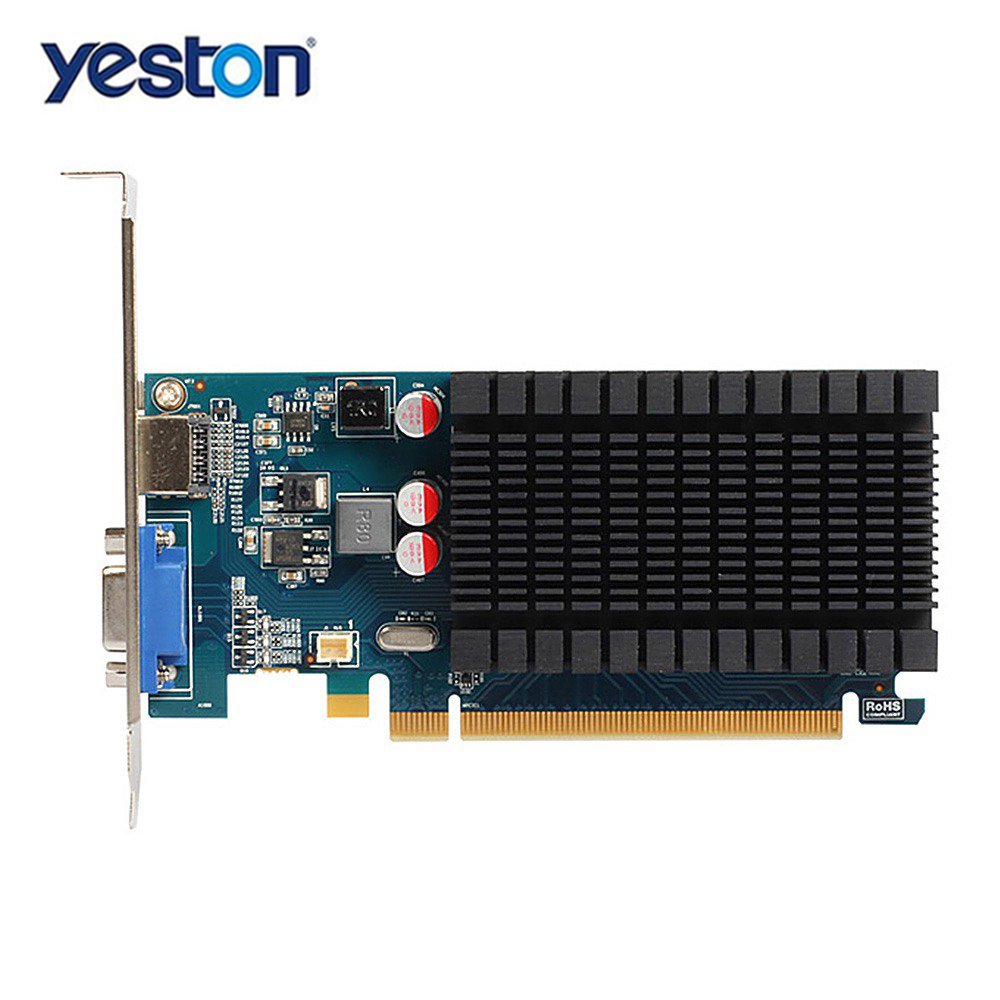 Yeston Radeon R5 230 GPU 1GB GDDR3 64 bit 650 MHz Gaming Desktop computer PC Video Graphics Cards support VGA/HDMI /PCI Express yeston nvidia geforce gt 730 gpu 2gb gddr5 64 bit gaming desktop computer pc video graphics cards support pci e x16 2 0