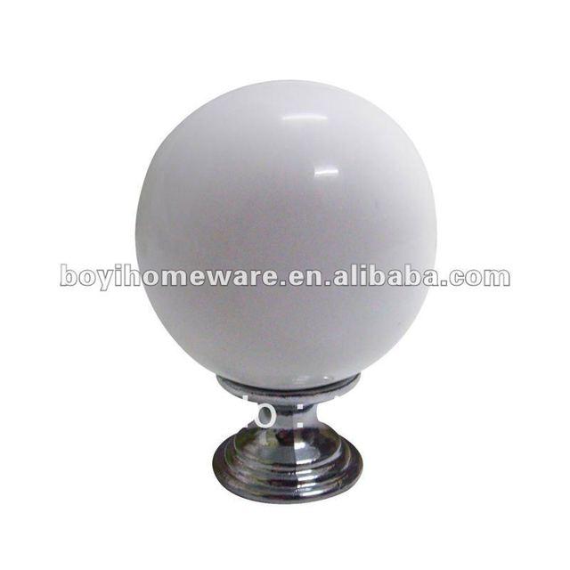 new white ceramic knob bulb shape cabinet knobs kitchen knobs round knobs wholesale & retail shipping discount 100pcs/lot PD0-PC