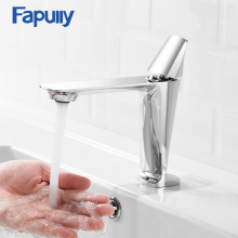 лучшая цена Fapully Basin Faucet Elegant Bathroom Faucet Hot and Cold Water Basin Mixer Tap Chrome Finish Brass Toilet Sink Water Crane 1090