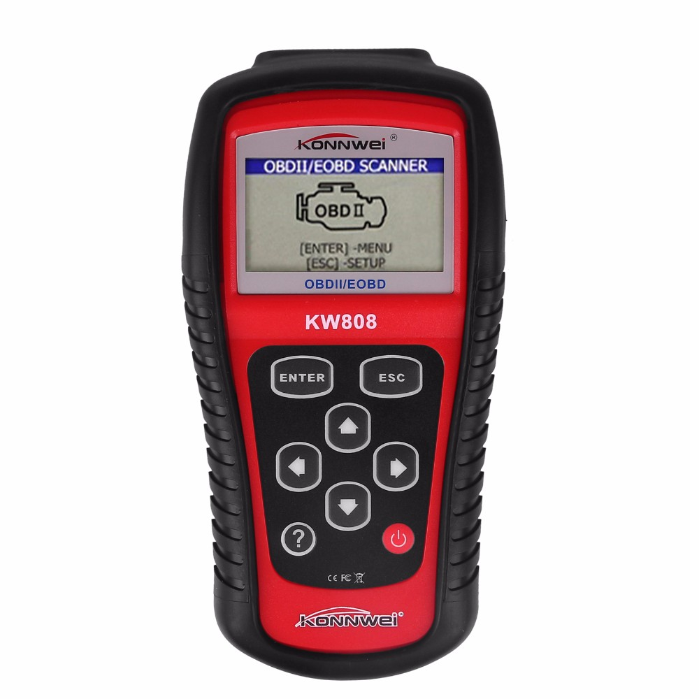 Best Car Diagnostic Tool EOBD OBD2 Scanner KW808 Auto Code Reader Check Engine fit for CAN and All Other Current OBD2 Protocols free shippinng diy om580 obd scanner automotive obd2 eobd car code reader for engine abs dsc srs fault diagnostic tool