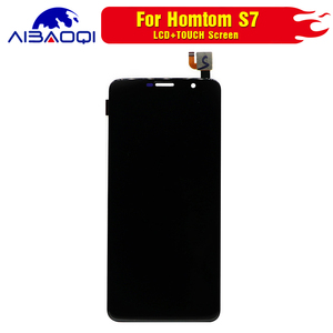 Image 5 - New Touch Screen LCD display LCD screen for HOMTOM S7 screen with Frame replacement parts + removal tool + 3M adhesive