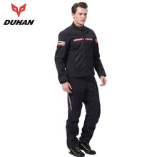 Фотография DUHAN Summer Motorcycle Jacket Men Suit Black Mesh Moto Jacket And Motorcycle Pants Suit Motorcycle Blouson Moto