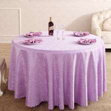 European Purple Thousands Of Hands Flowers Jacquard Tablecloths Hotel  Dining Table Round Cloth For Wedding(