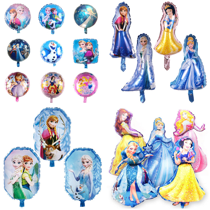 Elsa Anna <font><b>Princess</b></font> snow White &Cinderella Balloons Birthday <font><b>Party</b></font> decorations Kids Toys Wedding <font><b>party</b></font> supplies Helium Balloons image
