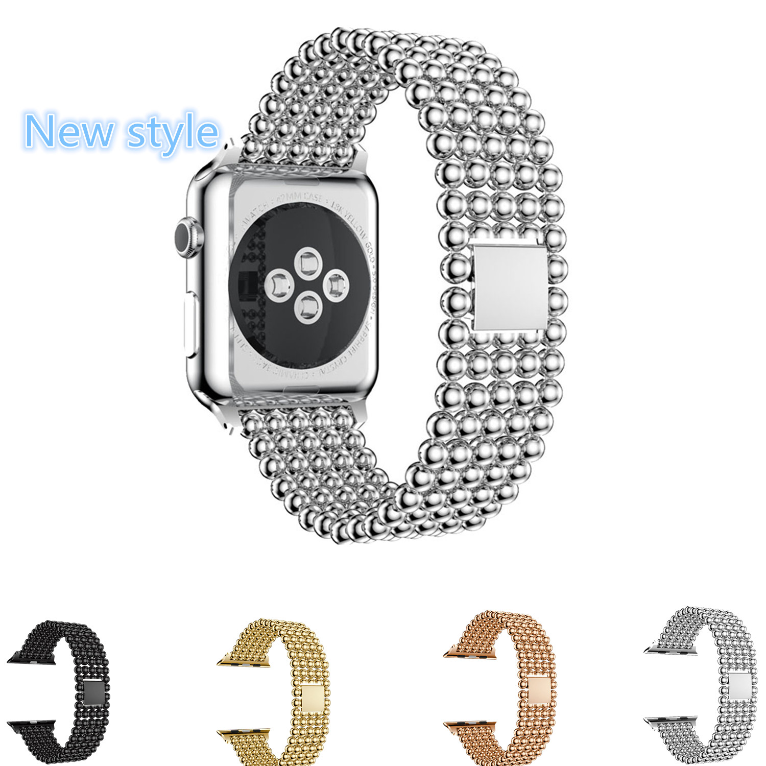 CRESTED Stainless Steel link Bracelet watch strap For Apple Watch Band 42 mm 38 mm with Buckle Strap Clip Adapter for iwatch 1 2 crested stainless steel watch band for fitbit charge 2 bracelet smart watch strap for fitbit charge2 with connector