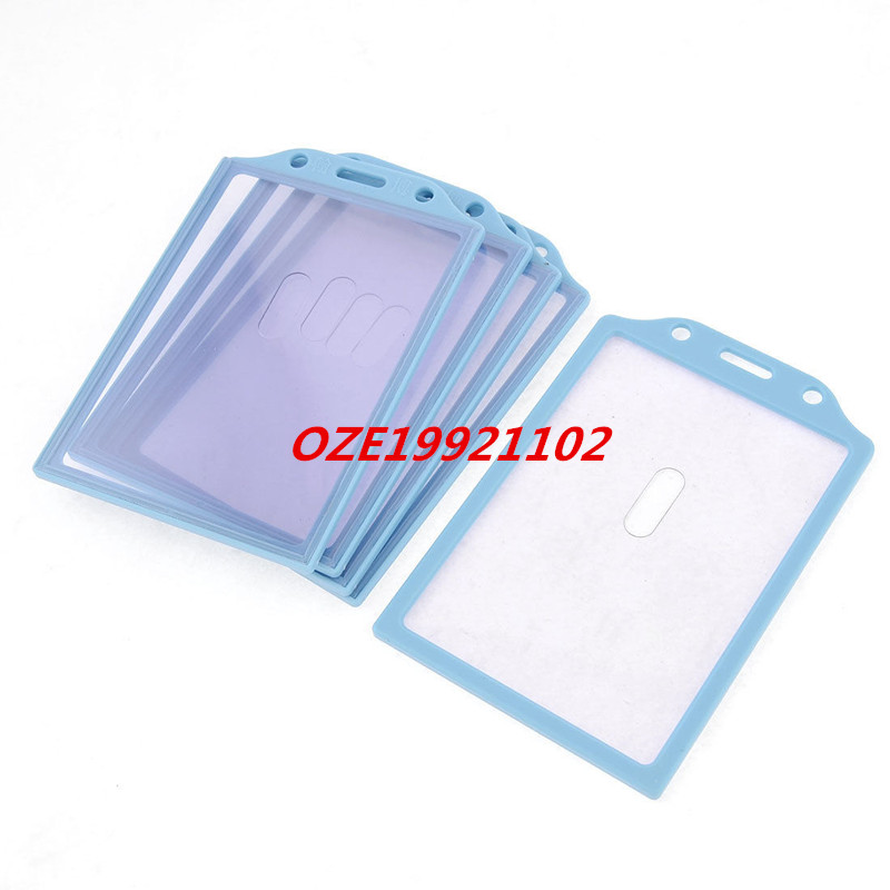 121mm X 87mm Baby Blue Frame Clear Front Rear Office Work Card Holder