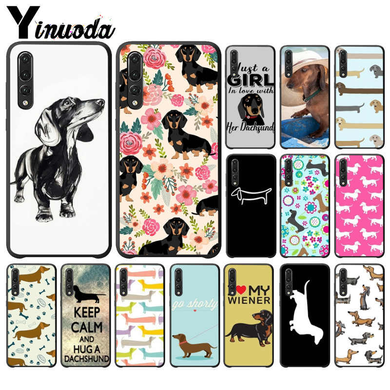 Yinuoda Animals Dogs Dachshund  Black  Phone Cover for Huawei P10 plus 20 pro P20 lite mate9 10 lite honor 10 view10 case