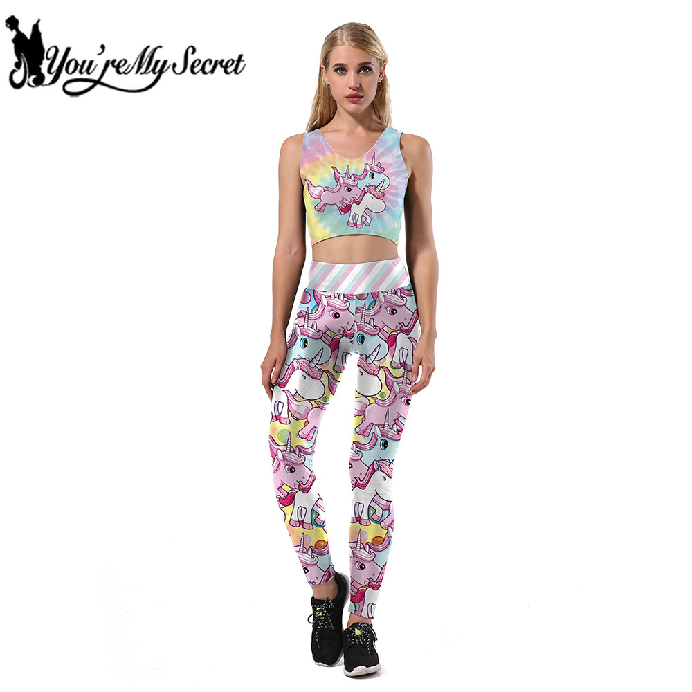 [You're My Secret] Hot Fashion Sexy Women Mermaid Scale Legging Set High Quality Crop Top and Pant Fitness Party Cosplay Costume