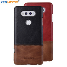 Case for LG V20 KEZiHOME Luxury Hit Color Genuine Leather Hard Back Cover capa For LG V20 5.7'' Phone cases