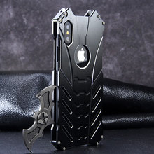 For IPhone X XR XS MAX 5Se 6 6S 7 8 Plus Case Luxury Aluminum Metal Bumper Frame Armor Protective Shockproof Phone Case Cover