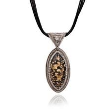 Nouveau Design De Mode Perles Émail Bib En Cuir Tressé Corde Chaîne Collier Livraison Gratuite NK0228