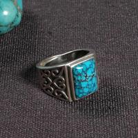 Кольцо ручной работы из непальского серебра 925 пробы, коктейльное кольцо из тибетского стерлингового серебра, богемное кольцо с регулируем