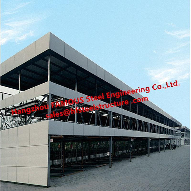 Vertical Multi-storey Automated Car Parking Garage With Smart Motor System And Solid Steel Structure Frames China Supplier