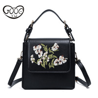 Chinese Style Embroidered Handbags New Stereotypes Shoulder Small Square Bag Retro Flowers Messenger Bag Tide Korea
