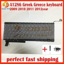 Бренд GK греческий клавиатура для MacBook Pro 15 ''A1286 Греции клавиатура 2009 2010 2011 2012 год