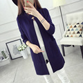 No longer a pure cardigan sweater coat female buckle 2016 new women's Korean cultivating collar in spring and Autumn
