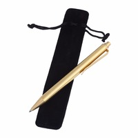 Brass Spring Roller Ball Pen Writing Stationery Business Office Supplies 0 5mm With Pen Bag