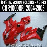 Hot glossy red black bodywork for HONDA 2004 2005 cbr1000rr fairings 04 05 CBR 1000 RR fairing set 7 free gifts DJ83