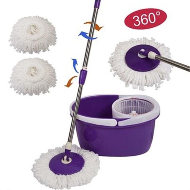 a7a944e98d2 Cuisine Vadrouille Remplacement 360 Tête Rotative Facile Magique Microfibre  Vadrouille Tête pour Femme de Ménage Maison