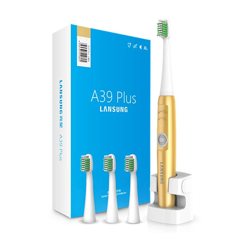 A39Plus Electric Toothbrush Wireless Charge for Adult Electric Tooth Brush Rechargeable 220V with Gold color 2pcs philips sonicare replacement e series electric toothbrush head with cap