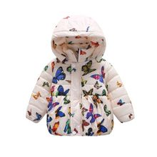 Autumn Winter Dot Hooded Children Kids Boys Girls Clothing Set Solid Full Sleeve Jacket Coat Vests & Waistcoats Clothes