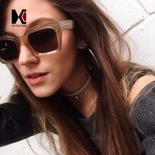 SHAUNA Classic Women Square Sunglasses Brand Designer Fashion Nail Decoration Men Champagne Frame Shades