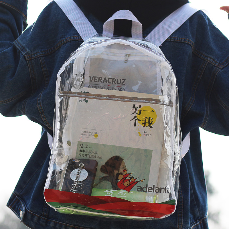 Clear Book Bags for School Promotion-Shop for Promotional Clear ...