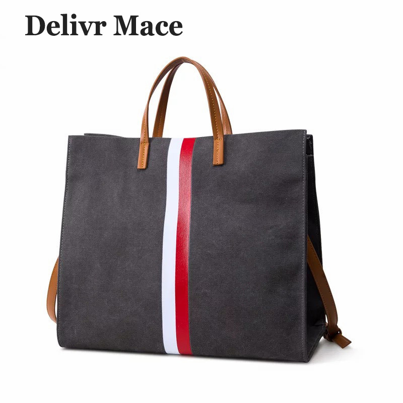 Women's handbag Canvas White Red Stripe Polyester Women Casual tote Bags Zipper Soft Fashion Female Messenger Bag Lady Handbags american loft style water pipe lamp retro edison pendant light fixtures for dining room hanging vintage industrial lighting