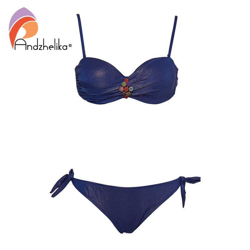 Andzhelika Gợi Cảm Bikini Nữ Kim Cương Rắn Bơi Đẩy Lên Bikini Bộ Brasil Áo Tắm 2019 Bãi Biển Mùa Hè Đồ Bơi