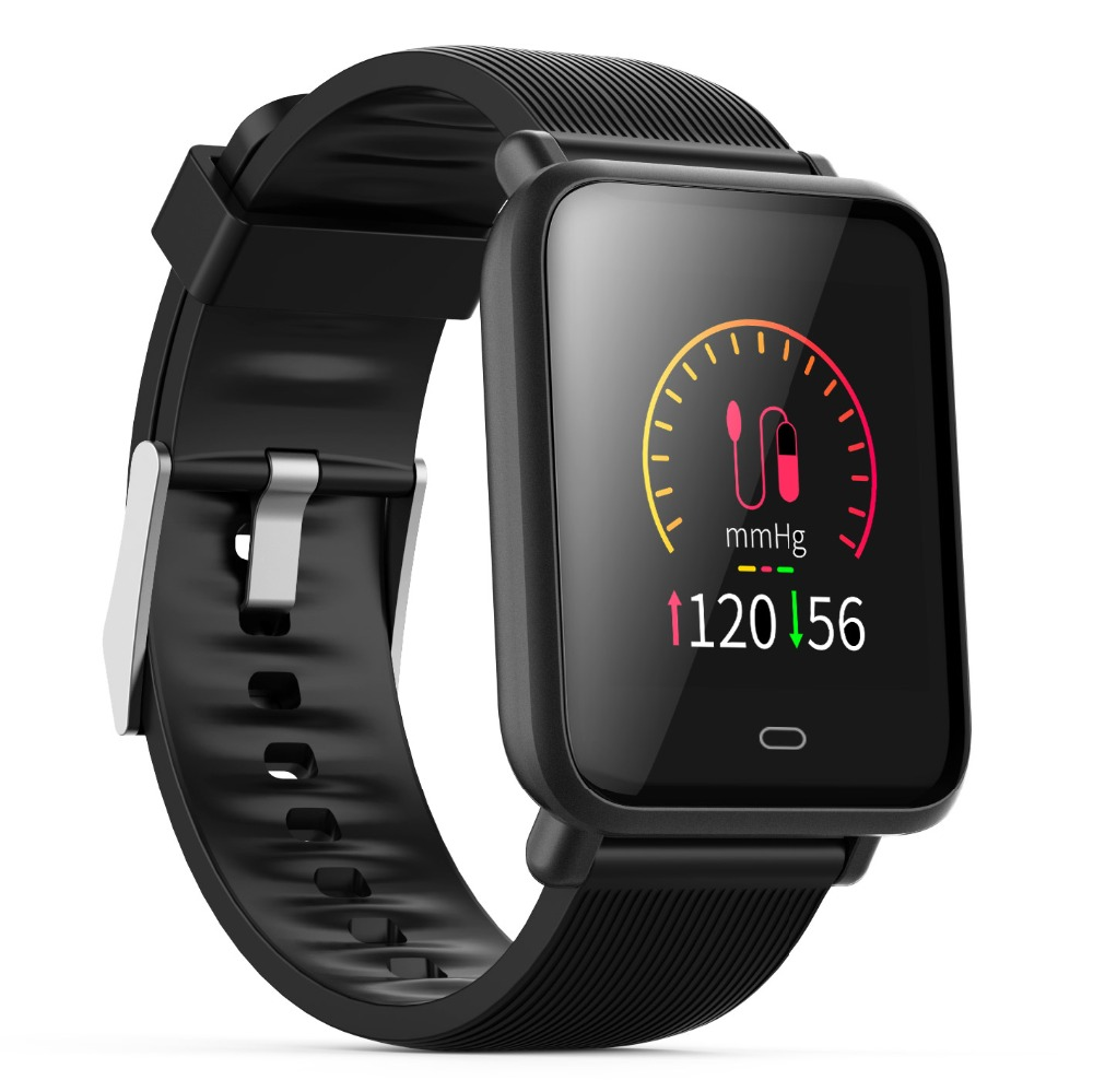 Mesuvida Q9 Blutdruck Smartwatch (15 Tage Arbeit, Nachricht Display, Multi-Sport Modell, HRM Herzfrequenz Wasserdichte Intelligente Uhr