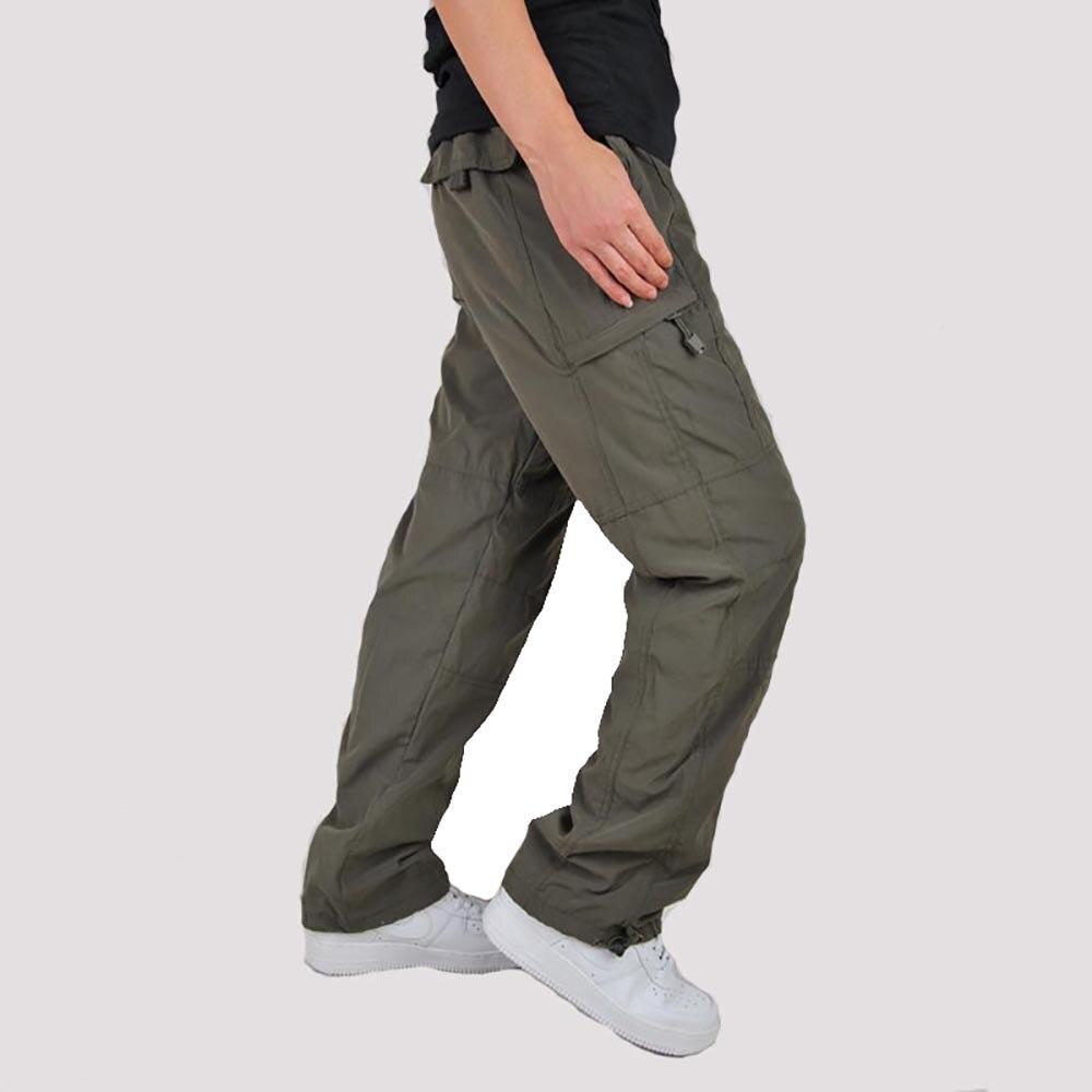 Larghi Il In Pantaloni Cotone Cargo Pile Green Nero Uomo Caldo wk0PO8n