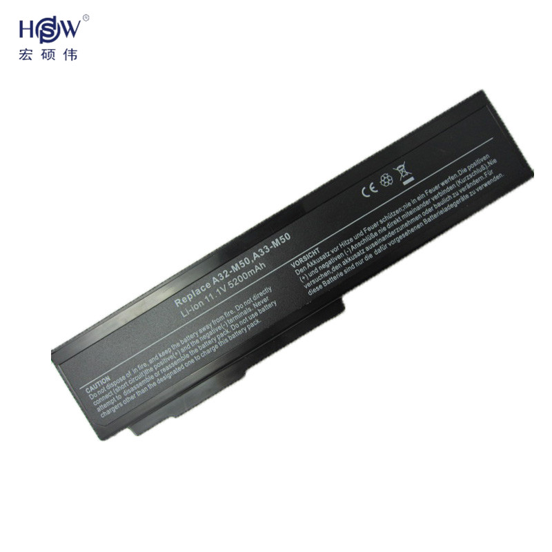 HSW 5200mAh Battery for ASUS M60JV M60V M60VP M60W N43 N43 N43J N43JF N43JM N53 N53D N53DA N53J N53JF N53JG N53JL N53JN bateria in Laptop Batteries from Computer Office