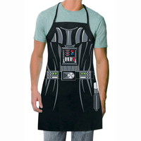 Novelty Funny Cooking Aprons Star Wars Darth Vader Character Costume Cosplay Party Apron Hero Cosplay Bar