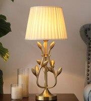 Современная настольная лампа, Золотая настольная лампа, рабочий стол, настольная лампа для гостиной, бронзовая настольная лампа для чтения,