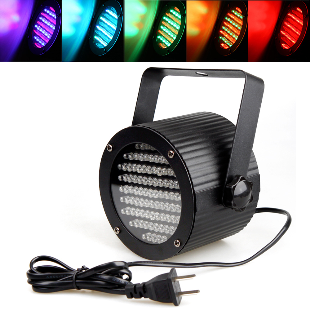 Kontrol Suara DMX 86 RGB Spotlight LED Disco DJ Party Bar Light Home Entertainment Tampilkan Proyektor Tahap Efek Pencahayaan