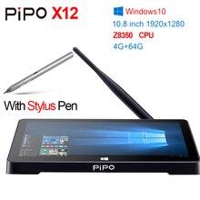 "Original 10,8 ""1920*1280 PIPO X12 Windows 10 mini PC TV Box Z8350 Quad Core 4G + 64G 10000 mAh Mit Stylus Stift VGA HDMI LAN RJ45"