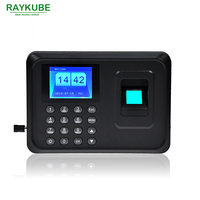 RAYKUBE TFT Fingerprint Time Attendance Clock Recorder Employee Digital Office Time Attendance Machine R FA6
