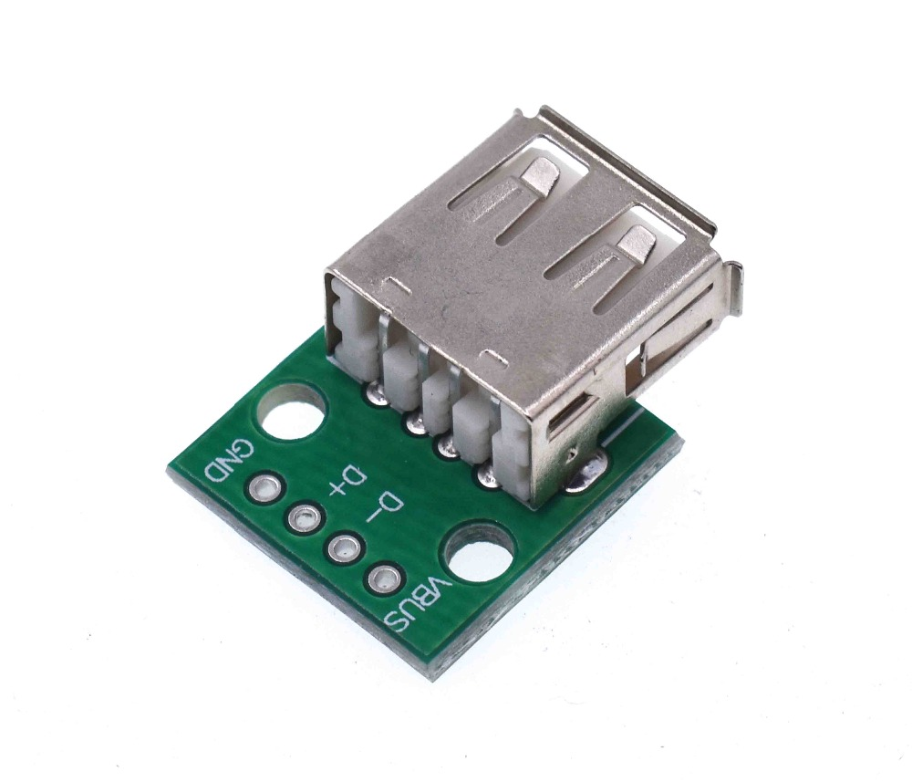 2//10PCS Type A USB DIP Female To 2.54MM Adapter Converter PCB Board For Arduino