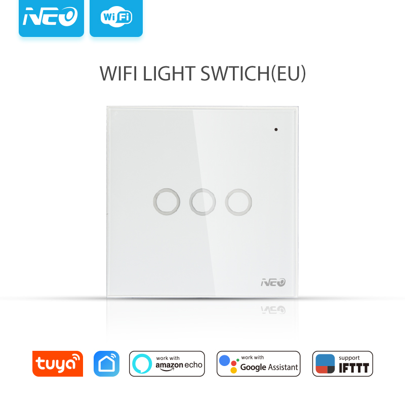 NEO NAS-SC03W WiFi 3Gang EU Light Switch Home Automation NEO NAS-SC03W WiFi 3Gang EU Light Switch Home Automation