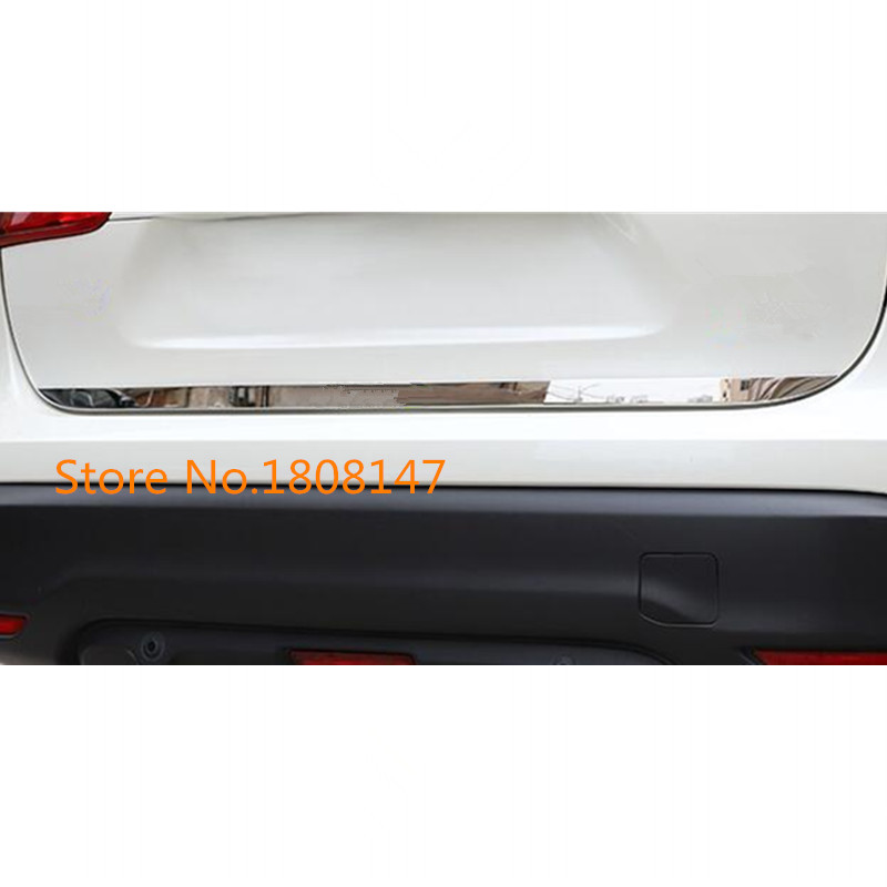 Car Sticks body cover stainless steel Rear door Tailgate frame plate trim lamp 1pcs For Nissan Qashqai j11 2016 2017 2018