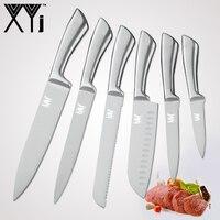 XYj 7cr17 нержавеющая сталь кухонные ножи набор фруктов утилита Santoku шеф повар нарезки готовка хлеба одна деталь структура