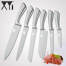 XYj 7cr17 нержавеющая сталь кухонные ножи набор фруктов утилита Santoku шеф повар нарезки хлеба пособия по кулинарии ножи одна деталь строк