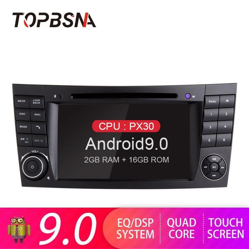 TOPBSNA Android 9.0 Jogador Do Carro DVD Para Mercedes Benz-classe CLS CLK W209 W211 W219 W463 GPS 2 din Car Multimedia Stereo WIFI BT