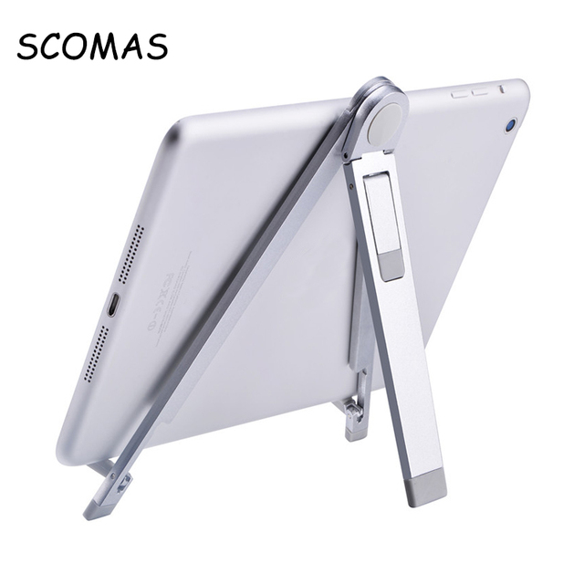 Scomas Universal Spider Aluminum Mobile Stand For Tablet Pc Adjule Portable Bracket Digital Device Holder