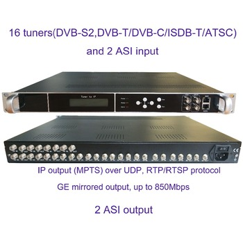 16 DVB-S2 to IP/ASI encoder, ISDB-T to IP/ASI output, atsc to IP/ASI  encoder,1080P Multi-Channel encoder, DVB-T/C to IP/ASI